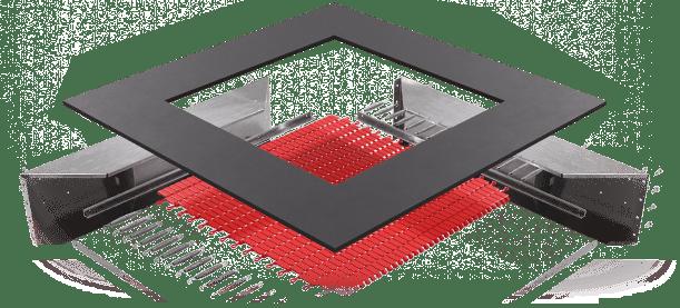 Резиновая поверхность батута