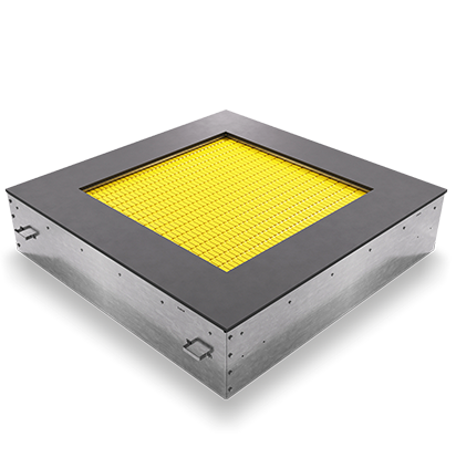 Квадратный желтый батут
