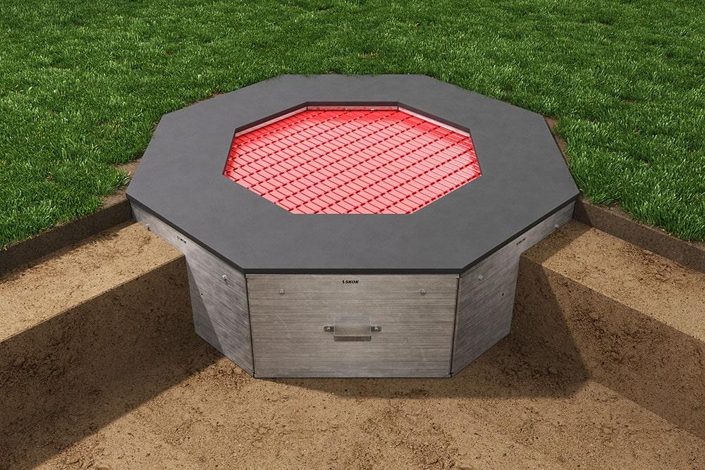 Красный батут Восьмиугольник, фото 4